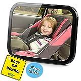 Baby Auto Spiegel 100% bruchsicherem 360° verstellbar Fixierbänder anti-wobble Quick Install