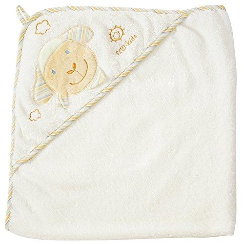 Fehn 397086 Kapuzenbadetuch BabyLOVE - Bade-Poncho aus Baumwolle mit niedlichem Schaf für Babys und Kleinkinder ab 0+ Monaten - Maße: 80 x 80 cm