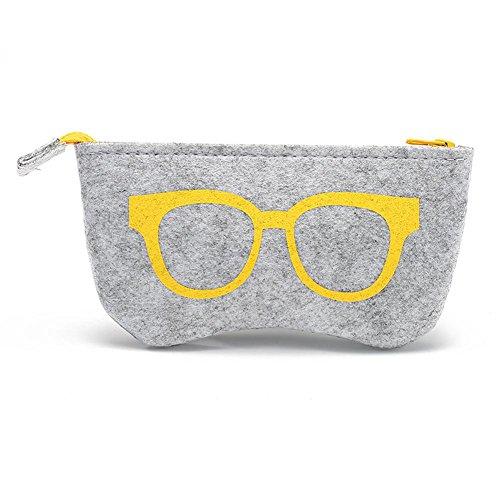JUTTA Brillenetui für Damen und Herren - Brillenbox Etui in Gelb für Brillen und Sonnenbrillen -...
