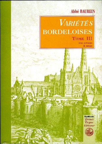 Varits bordeloises (tome 3)
