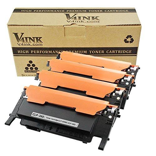 Preisvergleich Produktbild V4INK Toner ersetzt Samsung CLT- K406S C406S M406S Y406S für Samsung Xpress C410W C460 C460W, CLX-3300 CLX-3305 CLX-3305N CLX-3305W Drucker 1500 Seiten für Schwarz, 1000 Seiten für je Farbe, 4 Stück