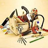 Richtiges Werkzeug für Kinder mit Werkzeugkasten zum Selberbauen