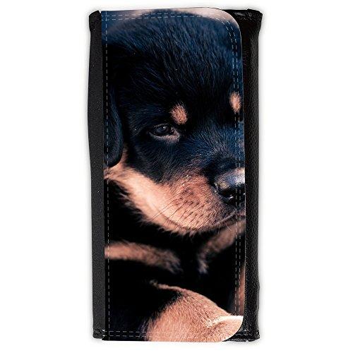 Portemonnaie Geldbörse Brieftasche // V00003220 niedliche Rottweiler Welpen // Large Size Wallet (Rottweiler Geldbörse)