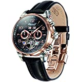 Ingersoll Herren-Armbanduhr San Bernardino Chronograph Automatik Leder IN4514RBK