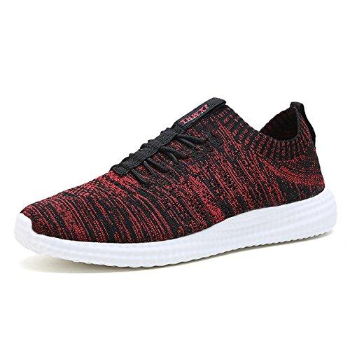 ZanYeing Scarpe da corsa da uomo Scarpe da fitness leggere Scarpe da corsa da corsa Scarpe da ginnastica comode Scarpe casual all'aperto Rosso