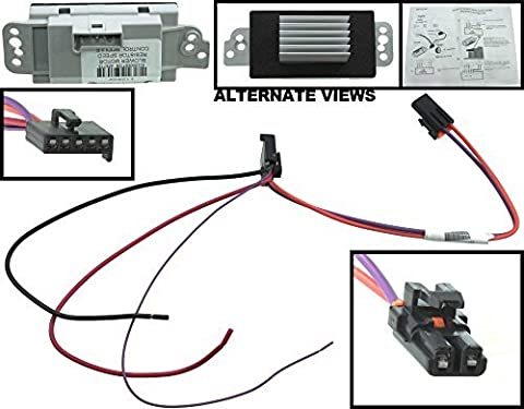 APDTY 112822 Blower Motor Resistor Speed Control Upgrade Module Auto Temp Control 2003-2009 Hummer H2 04-07 Buick Rainier 2002-2009 Chevrolet Trailblazer or GMC Envoy Olds Bravada 15-80655, 19329838 by APDTY