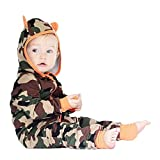BeautyTop Baby-Overall-Kleidung, Neugeborene Baby Boy Mädchen Camouflage Mit Kapuze Langarm Strampler Overall Kleidung Outfits (90/9-12 Monate, Tarnung)