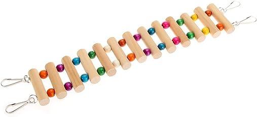 KSK Small Birds Pet Toy Accessories Drawbridge Bridge Wooden Singing Cockatiel Parrot Bird Toys