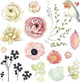 Nysunshine 1 Stück Vögel Schmetterling Blumen Bügelbild Applikation Verschiedene Größen Dekoration Aufnähen für DIY Jeans Jacken Kleidung Handtasche Schuhe Kappen