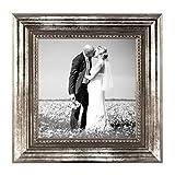 5er Set Bilderrahmen 10×10 cm Silber Barock Antik Massivholz mit Glasscheibe und Zubehör / Fotorahmen / Barock-Rahmen - 3