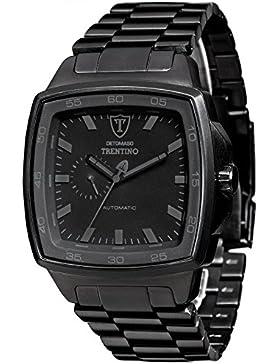 DETOMASO Herren-Armbanduhr Black Analog Automatik DT1059-D