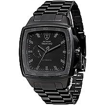 DETOMASO Trentino Black - Reloj Automatic Forza Di Vita para hombre, color negro