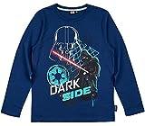 Star Wars Langarmshirt Jungen Shirt Rundhalsausschnitt (Blau, 134-140)