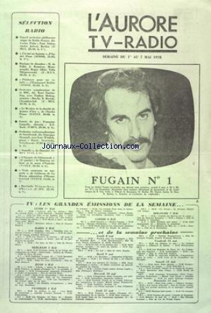AURORE TV RADIO (L') du 01/05/1978 - MICHEL FU...