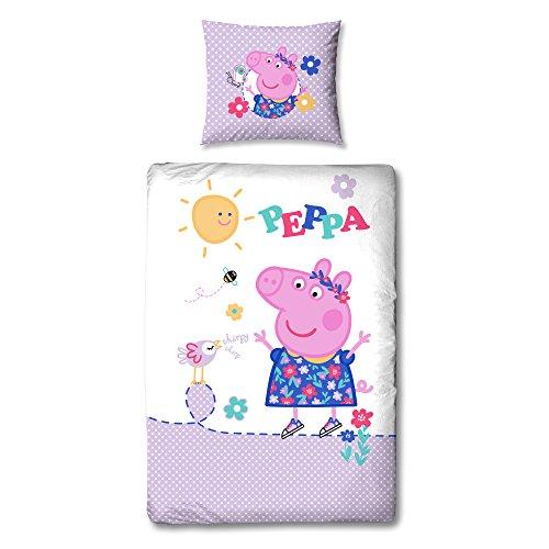 Linon Bettwäsche Peppa Wutz Pig - Adorable 135 x 200 cm + 80 x 80 cm - Neu & Ovp - 100{fe2aa57c47409915977c7dae5b87df52e8a2bbdb99bb760ed78e91a93dd9e767} Baumwolle - deutsche Größe