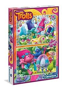 Trolls - Puzzle 2 x 60 piezas (Clementoni 07128)