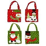 Eleery 4pcs Geschenktüten Weihnachten Nikolaustüte Geschenktaschen Weihnachtsdekoration Süßigkeiten Tasche Xmas (4pcs)