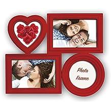 ZEP Bilbao - Portafotos múltiple, 32 x 26.5 x 2.5 cm, color rojo