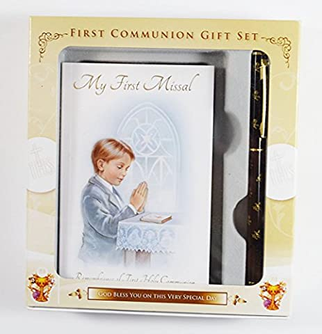 Boys First Holy Communion My 1st Missal Prayers Book And Pen Gift Set Keepsake