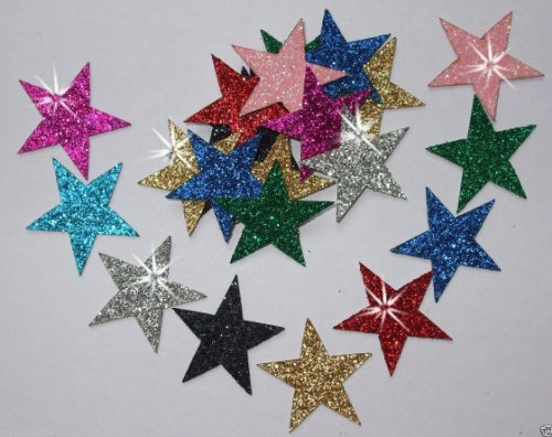 mix-colours-48-fabric-glitter-25mm-star-iron-on