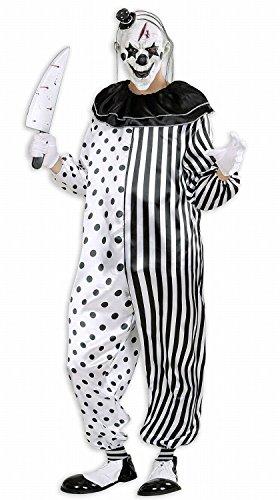 Anzug Clown Im (Widmann 01612 - Erwachsenenkostüm Killer Pierrot, Overall, Gröߟe)