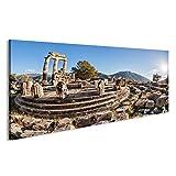 Bild Bilder auf Leinwand Berühmtes Delphi mit Ruinen des