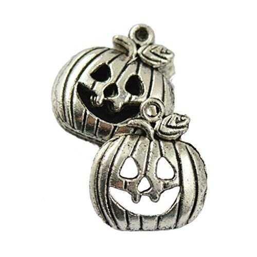 Gazechimp 50st Halloween Kürbis Charme Anhänger Schmuck DIY Basteln Zubehör (Halloween Schmuck Zubehör)