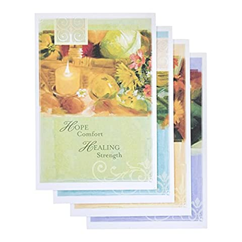 DaySpring Get Well Greeting Cards w Embossed Envelopes - Hope and Healing, 12 Count (11546) by