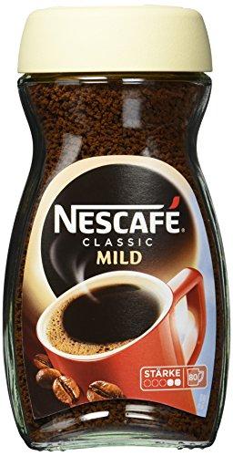 Nescafé Classic Mild löslicher Bohnenkaffee (mit feinen Arabica Kaffeebohnen, kräftiger...