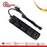 Prolite 4 Socket Spike Buster Power Strip Extension Surge Protector For Electronics, PC, Laptops And Mobile Devices (1.5 M Wire)