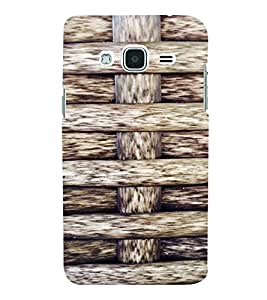 PrintVisa Knitted Ropes Pattern 3D Hard Polycarbonate Designer Back Case Cover for SAMSUNG GALAXY J3 2016 Edition