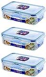 3 X Lock & Lock Food Storage 550ml Rectangular Box HPL815