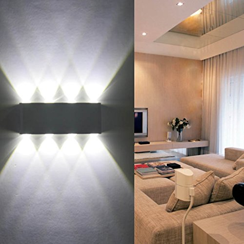 wandleuchte led innen phoewon 8w modern led licht. Black Bedroom Furniture Sets. Home Design Ideas