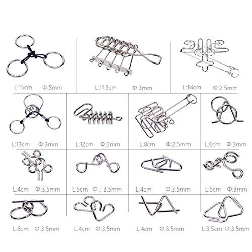Rompecabezas Metal Fokom 30pack Puzzles 3d Juegos De Ingenio