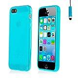 32nd Crystal Gel Soft Case Cover for Apple iPhone 5 5S SE - Light Blue