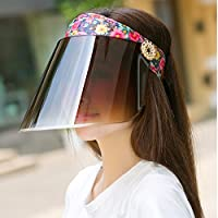 PLKOI Sombrero para el solLa Sra. SombrerosSombrero para el solPower Black Face SombrerosSombreros de sol de ciclismo al aire libre, CódigoAjustable, 3 meses