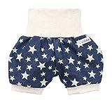 Lilakind Kurze Jungen Jeans Shorts Buxe Sommerhose Sterne - Made in Germany, Blau Beige, 86/92 cm