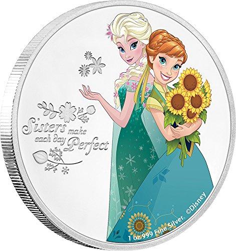 a Disney Frozen 1 Oz Silber Münze 2$ Niue 2016 (Disney Frozen Platten)