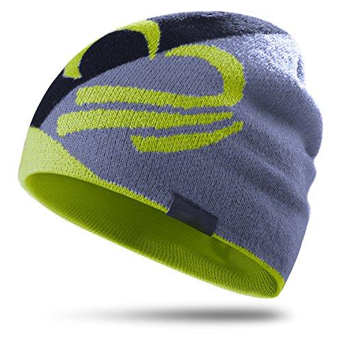 Topnaca Unisex Thermal Skull Caps Helm Liner Radfahren Caps Laufmütze, Covers Ohren Dochte Feuchtigkeit Moisture Breathable, für Motorrad Snowboard Wandern Klettern Fußball Outdoor-Aktivitäten (Zitrone)