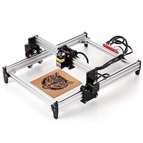 Fesjoy 2500 mw de escritorio DIY Máquina de grabado láser Grabador CNC Carver Impresora láser con gafas protectoras para tallar corte y grabado