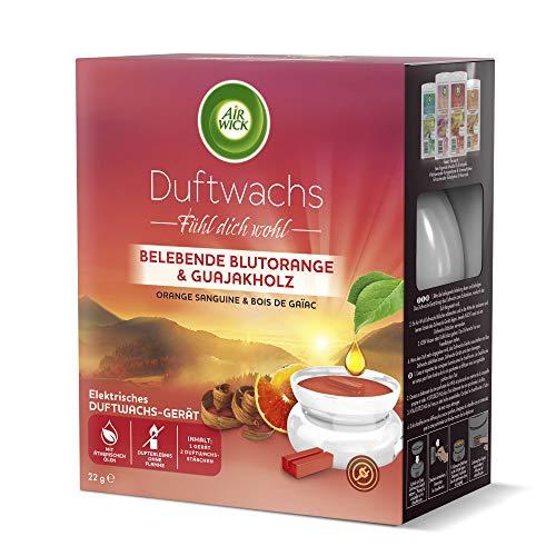 Air Wick Duftwachs Starter Set, inklusive 1 x 6 Stäbchen Belebende Blutorange & Guajakholz, 1 Stück