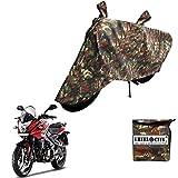 #8: Vheelocityin Military Bike Cover Miltary Design Bike Body Cover For Bajaj Pulsar Rs 200 Pulsar As 200-150