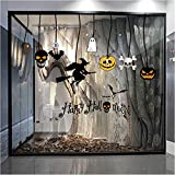 Wandtattoo Halloween Kürbis Hexe Mond Fledermaus Muster Wandsticker Aufkleber Home Decor Wandaufkleber Wanddeko Wandkunst TV Hintergrund Wand Dekoration Party Deko Hausdekoration Rovinci