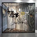 Wandtattoo Halloween Kürbis Hexe Mond Fledermaus Muster Wandsticker Aufkleber Home Decor Wandaufkleber Wanddeko Wandkunst TV Hintergrund Wand Dekoration Party Deko Hausdekoration Rovinci