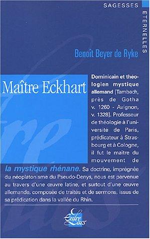 Maître Eckhart par Benoît Beyer De Ryke
