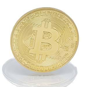 Physische Bitcoin Münze mit 24 Karat Echt-Gold überzogen von Hedgecoin. Ideal zum Sammeln