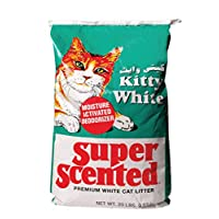 Kitty White Cat Litter Super Scented, 9.07kg