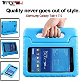 "Galaxy Tab 4 7.0 Case, Tab 4 7.0 Case, TabPow [Kids Case] - [Shockproof][Drop Protection][Heavy Duty] Kids Children EVA Case Cover with Carrying Handle Stand For Samsung Galaxy Tab 4 7.0"" T230 T231 T235 (Blue)"