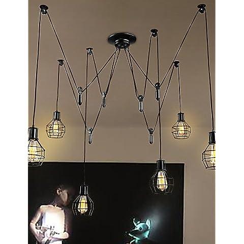 6 semáforos ZSQ País diseñadores luces colgantes de metal habitación con Salón / Comedor / cocina / sala de estudio/oficina , 220-240 v #3890