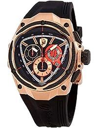 55611d1d0c27 Tonino Lamborghini Spyder - Reloj para hombre con esfera negra de goma  SPYDERREDLINE14